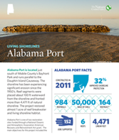 Living Shorelines project in Alabama Port