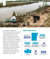 Living Shorelines project at Fowl River