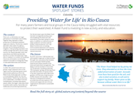 Water Funds Spotlight Stories: Colombia | Providing 'Water for Life' in Rio Cauca