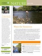 With the Water for Tomorrow program we are once again looking at how New York manages its water to ensure our rivers, streams and lakes remain healthy for people and nature.