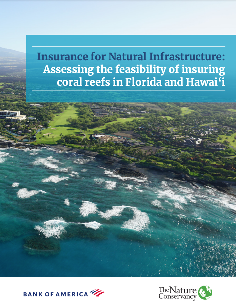 Assessing the feasibility of insuring coral reefs in Florida and Hawai'i