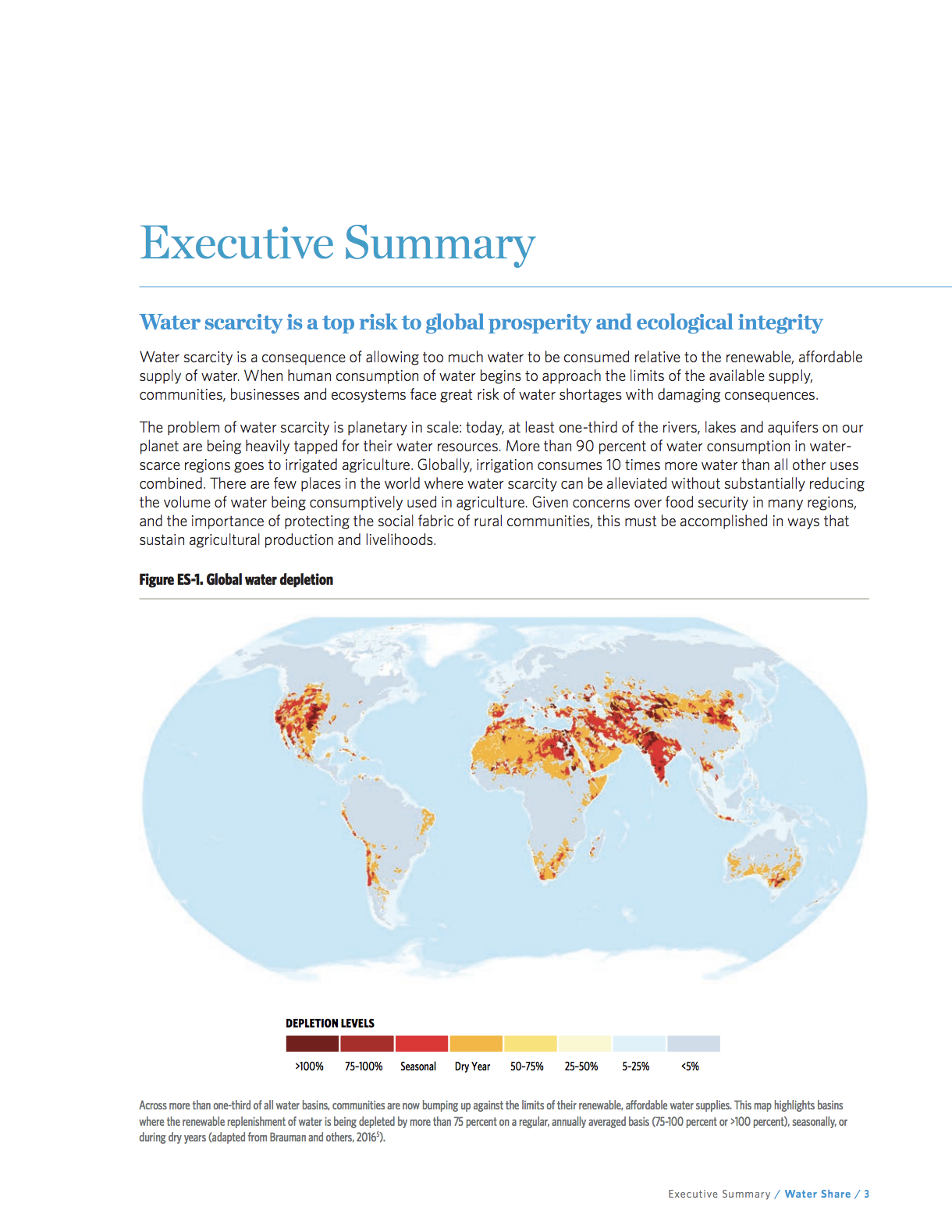 Thumbnail of Water Share Executive Summary