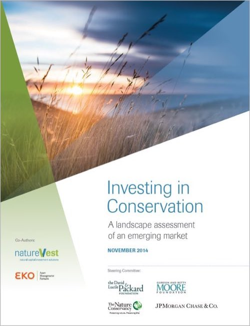 This 2014 report documented the first-ever survey of conservation impact investing and revealed a market of approximately $23 billion between 2009-2014.