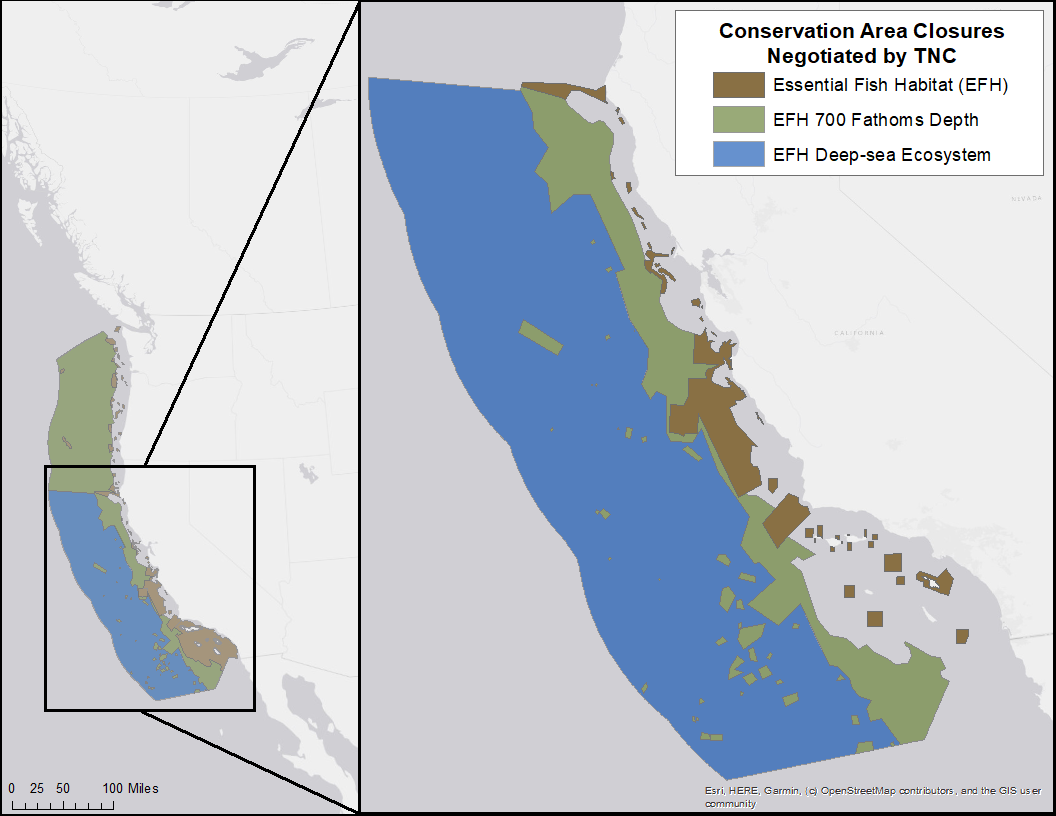 150,000 square miles of protected critical seafloor habitat off the west coast.