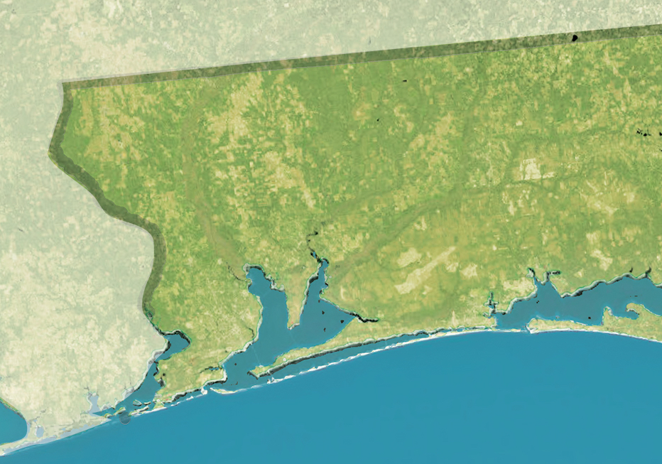 Pensacola Bay Region Map