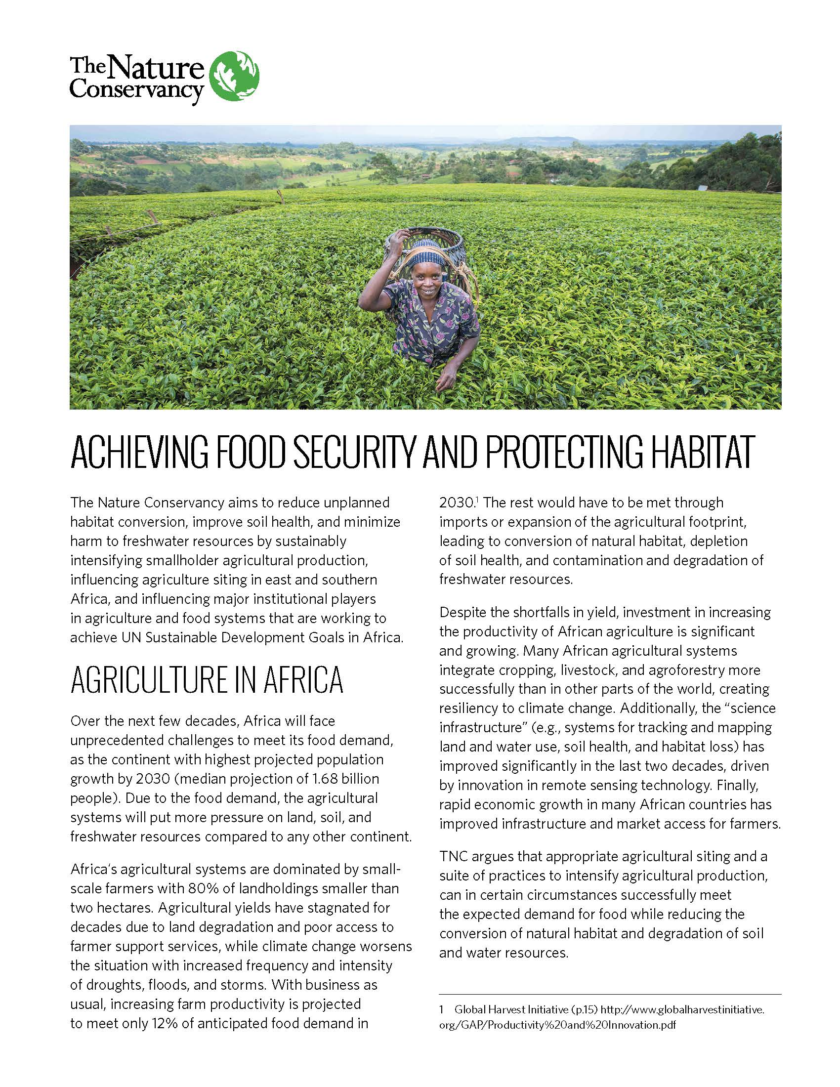 Africa Ag Summary Cover