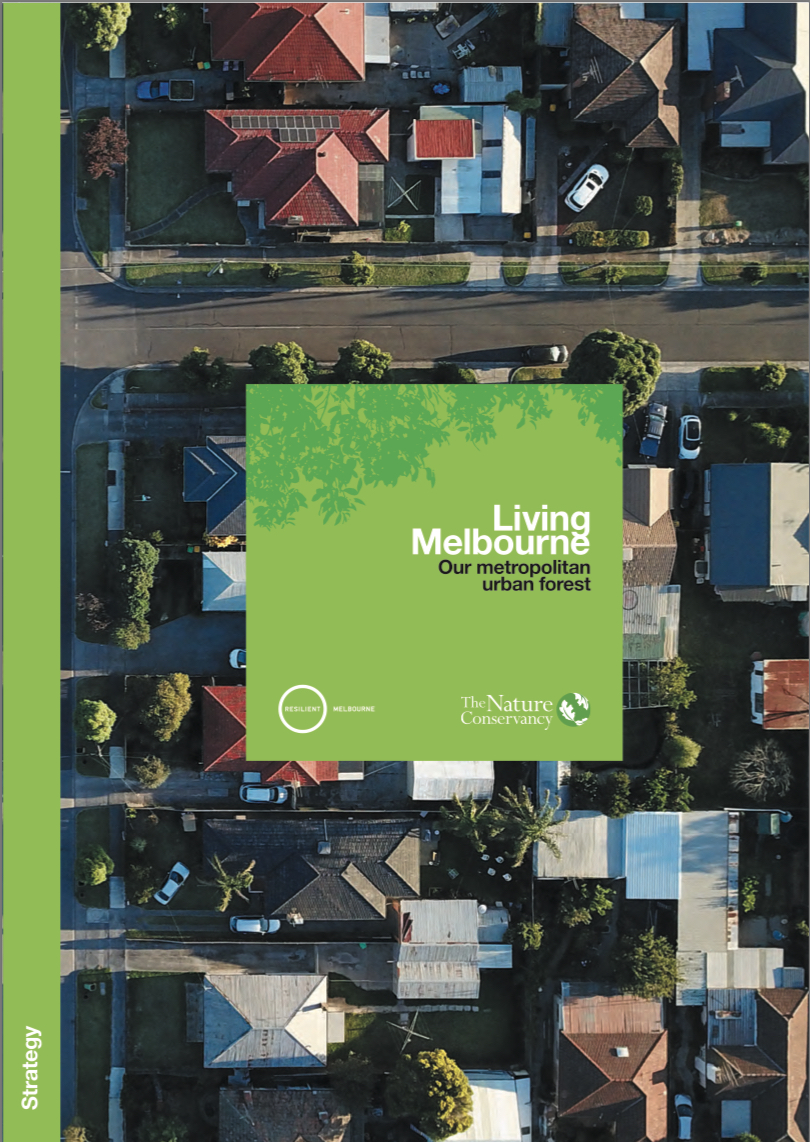 Report cover with Melbourne aerial view