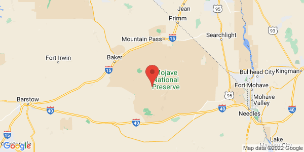 Map with marker: Three national parks offer spectacular recreational opportunities and are home to hundreds of species of unique plants and animals.