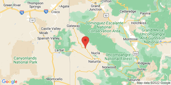 Map with marker: Tabeguache Preserve.