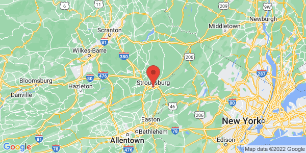 Map with marker: Scenic drives. Hiking, including near the Appalachian Trail. Horseback riding, hunting and fishing.