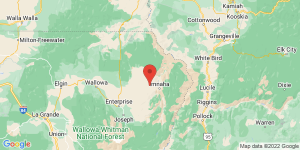 Map with marker: Zumwalt Prairie is North America's largest intact grassland of its type and Oregon's largest privately owned nature sanctuary.