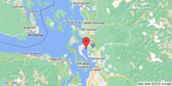 Map with marker: Snohomish County, WA