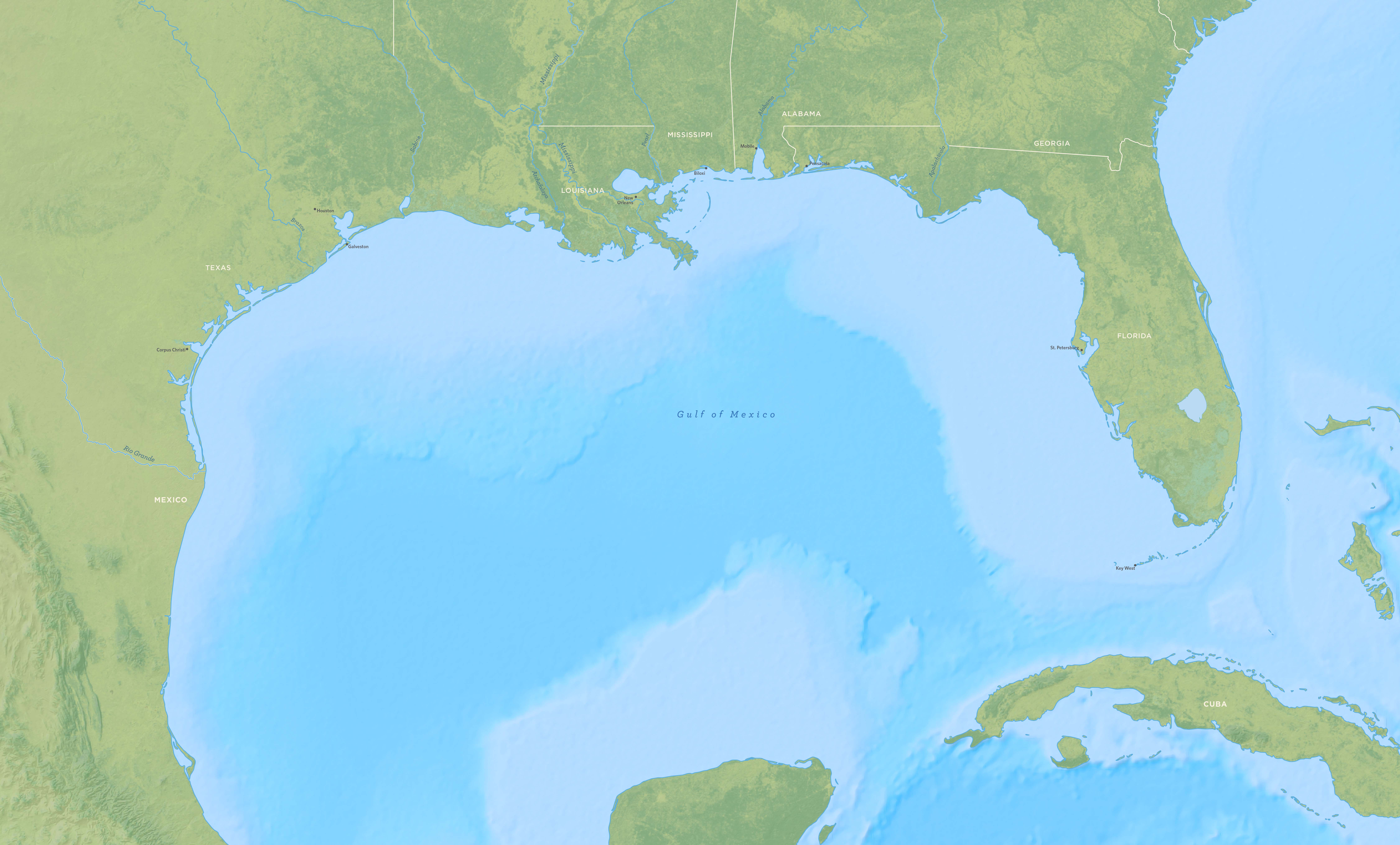 Gulf of Mexico Project Map The Nature Conservancy